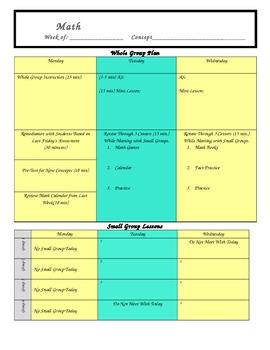 Guided Math Lesson Plan