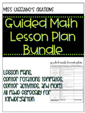Guided Math Lesson Plan with Activities Center Rotation Template & MORE!