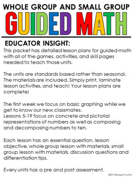 Guided Math Lessons: First Grade Number Sense
