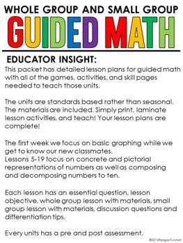 Guided Math First Grade Number Sense