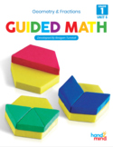 Guided Math First Grade Unit 5: Geometry and Fractions