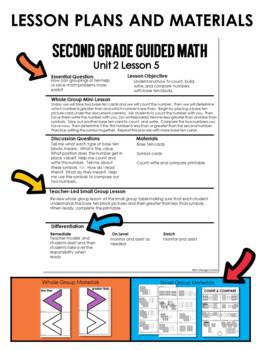 Guided Math Lessons: Second Grade Unit 2 Place Value
