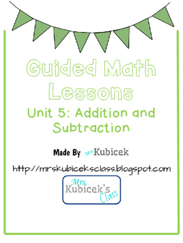Guided Math Lessons for Addition and Subtraction