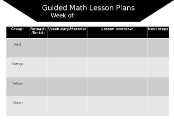 Guided Math Lessons for the week!