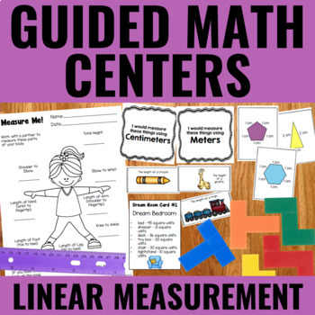 Guided Math: Linear Measurement Centers (Including Perimeter & Area)