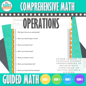 Guided Math: Measurement Relationships