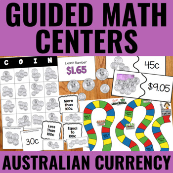 Guided Math: Money Centers (Australian Currency)