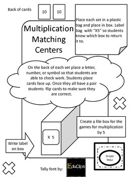Guided Math Multiplication Center 5