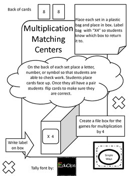 Guided Math Multiplication Center 4