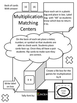 Guided Math Multiplication Center 8