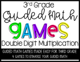 Guided Math Double Digit Multiplication Games for Third Grade