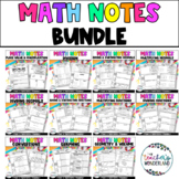5th Grade- Guided Math Notes Bundle [Paper & Digital]