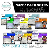 Guided Math Notes Bundle *SPANISH VERSION*