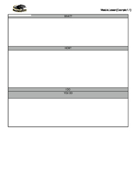 Guided Math Notes Template