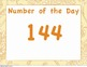Guided Math Number of the Day Posters for All Year