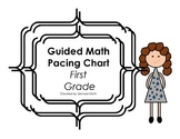 First Grade Guided Math CCSS Pacing Chart