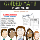 Guided Math (Place Value) Five Levels of Instruction (10 Games)