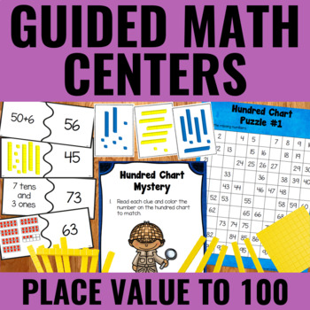 Guided Math: Place Value to 100 Centers
