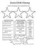 Guided Math Planning Sheet