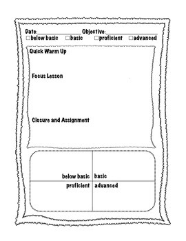 Guided Math Planning Template for Upper Grades