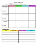 Guided Math Plans (Word file)