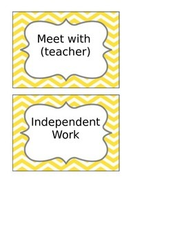 Guided Math Posters-Chevron