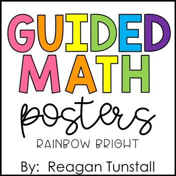 Guided Math Posters Rainbow Bright