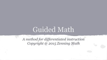 Guided Math Presentation