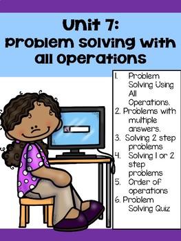 Guided Math Problem Solving Unit
