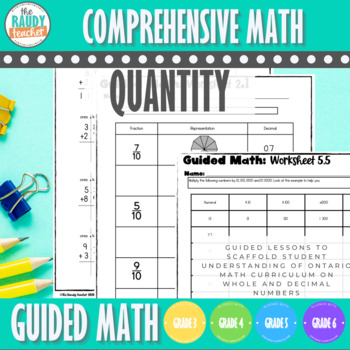 Guided Math: Quantity of Whole and Decimal Numbers