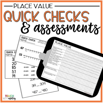Guided Math Quick Checks & Assessment Place Value