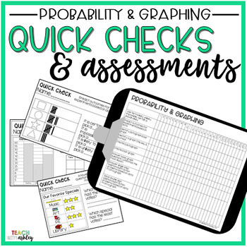 Guided Math Quick Checks & Assessments Probability & Graphing