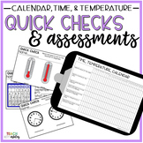 Guided Math Quick Checks & Assessments Time, Temperature,