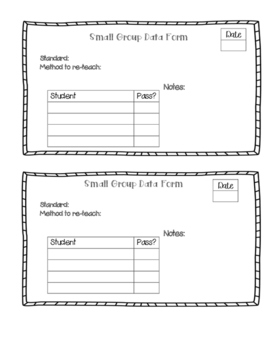 Guided Math/Reading Data Form