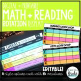 Guided Math + Reading Rotation Management Display   Printable + Digital!