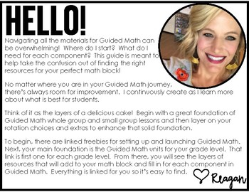 Guided Math Resource Overview K-4