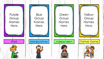 Guided Math Rotation Automatic PowerPoint (Custom Request)