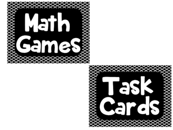 Guided Math Rotation Board Labels