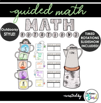 Guided Math Rotation Board STACK (includes timed slideshow!)