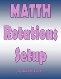 Guided Math Rotation Board Setup