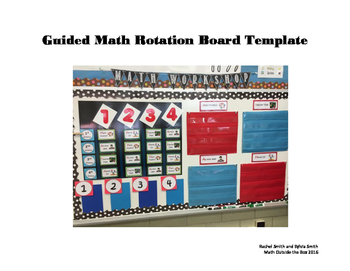 Guided Math-Rotation Board Template