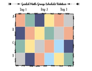 Guided Math Rotation Schedule