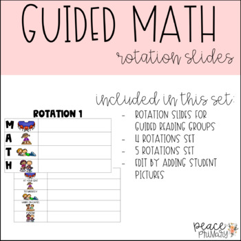 Guided Math:: Rotation Slides