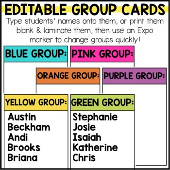 Guided Math Rotations Chart - Editable!
