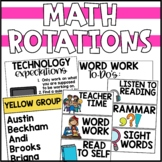 Guided Math Rotations Chart - Editable!
