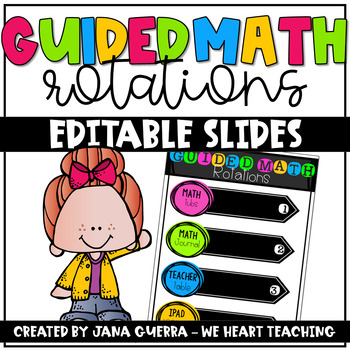 Guided Math Rotations- Editable Slides