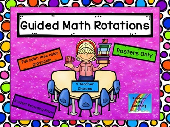 Guided Math Rotations: Posters Only