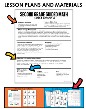 Guided Math Second Grade Unit 4 Double and Triple Digit Addition and Subtraction