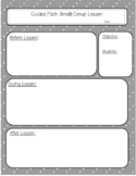 Guided Math Small Group Lesson Plan Template