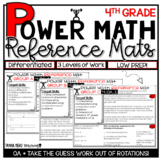 4th Grade Guided Math Differentiated Work 4.OA Algebraic Thinking Math Rotations
